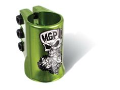 Madd Gear MGP Green Skull Water Decal Oversize Triple Scooter Clamp