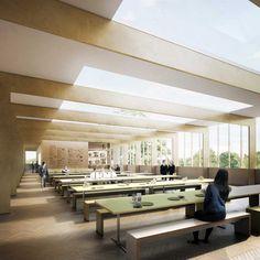 Forbes Massie / 3D Visualisation Studio / London - Work - Bell Phillips / Judd School Classical Architecture, School Architecture, Architecture Design, Forbes Massie, Public, Atrium, 3d Rendering, Dining Bench, Presentation