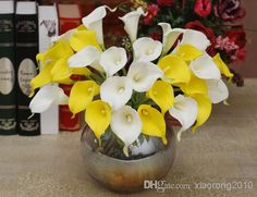 NATURAL/REAL TOUCH PU FLOWERS WHITE CALLA LILY FOR WEDDING/BRIDAL BOUQUETS, $0.86 | DHgate.com