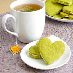 Honey & green tea cookies.
