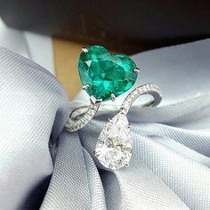 PrimaGems heart emerald
