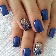 Потрясающий синий маникюр (50 фото) - Дизайн ногтей