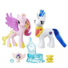 My Little Pony Friendship is Magic Family Moments Pack: Princess Cadance, Shining Armor and Flurry Heart Figures My Little Pony Dolls, Little Pony Cake, My Little Pony Princess, Hasbro My Little Pony, My Little Pony Party, Blue Teddy Bear, Princess Cadence, Baby Bedtime, Barbie Doll Accessories