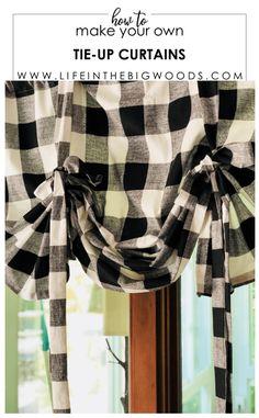 Glorious Make Rod Pocket Curtains Ideas. Enchanting Make Rod Pocket Curtains Ideas. Tie Up Valance, Tie Up Curtains, Country Curtains, How To Make Curtains, Burlap Curtains, Cottage Curtains, Patchwork Curtains, Farmhouse Kitchen Curtains, Farmhouse Valances