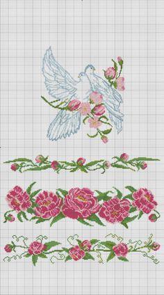 Gallery.ru / Фото #2 - ***** - celita Just Cross Stitch, Cross Stitch Borders, Cross Stitch Flowers, Cross Stitch Kits, Cross Stitching, Cross Stitch Embroidery, Cross Stitch Patterns, Wedding Cross Stitch, Creative Embroidery