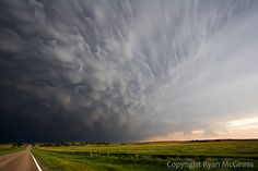 storm clouds in kansas. Just the way it looked. Flat and stomy