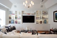 Bon Vivant Miami - view of Family Room custom cabinetry