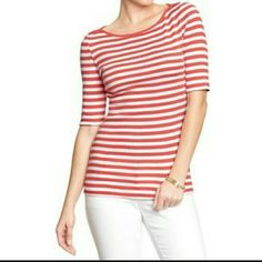 Sweater Women's 5/8-Sleeve Boatneck  Red Stripe Old Navy Sweaters