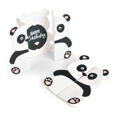 Panda Birthday Fold-a-Long Card – Birthday Happy Birthday Cards Handmade, Creative Birthday Cards, Birthday Cards For Friends, Funny Birthday Cards, Handmade Gifts For Friends, Bday Cards, Birthday Quotes, Diy Panda, Panda Craft