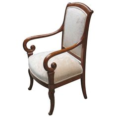 Exemplary French Charles X Restauration Armchair | From a unique collection of antique and modern armchairs at https://www.1stdibs.com/furniture/seating/armchairs/