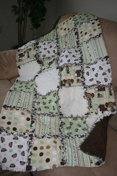 Baby Rag Quilt. $85.00, via Etsy.
