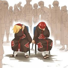 Deidara and Sasori = Yaoi