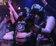 Motorhead helmet girls, on Jimmy Kimmel Live, 2009.