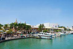 Waterfront shopping mall, Miami.