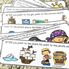 Talk Like a Pirate Day Speech Therapy Activities - The Pedi Speechie Auditory Processing Activities, Articulation Activities, Speech Therapy Activities, Language Activities, Therapy Games, English Activities, Therapy Ideas, Pirate Activities, Preschool Activities