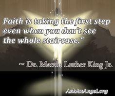 Faith is taking the 1st step. Angels blessings to everyone. Follow us on IG @ askanangel1 or Visit AskAnAngel.org