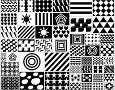 Free Printable Black & White & Red Newborn Visual Stimulation Patterns