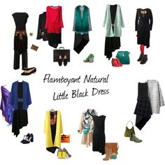 """Flamboyant Natural Little Black Dress"" by ketutar on Polyvore"