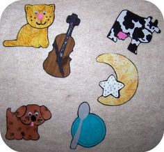 Hey Diddle Diddle Flannel Felt Board Story