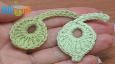 Crochet Little Round Leaf Tutorial