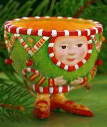 Patience Brewster Krinkles **Tea Cup Ornament**