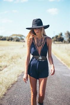 The Best Coachella Fashion of All Time - playsuit - best festival fashion!
