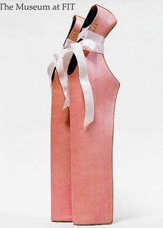 18-inch Lady Pointe shoes by Japanese designer Noritaka Tatehana that were worn by Lady Gaga in a television performance.