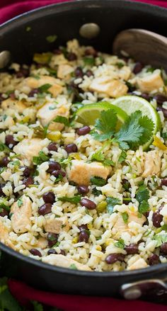Cilantro-Lime Chicken With Rice and Black Beans
