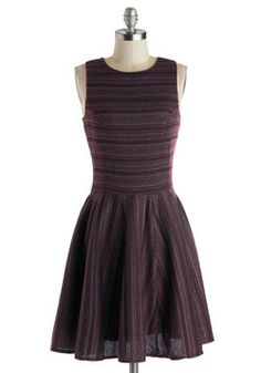 Hmmmm, pearls, a cardigan and ballet slippers. Perfect afternoon attire. Nature Center Celebration Dress, #ModCloth