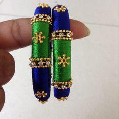 Nice colour combination silk thread bangles