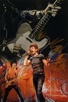 Painting by Ronnie wood chitarrista dei rolling stones Ronnie Wood Art, Beatles, Painting On Wood, Painting & Drawing, El Rock And Roll, Ron Woods, The Rolling Stones, Decoupage, Draw On Photos