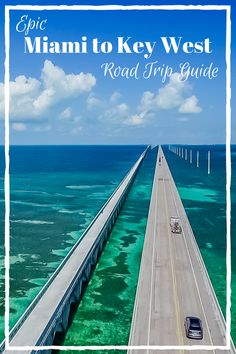Epic Miami to Key West Road Trip Guide. We have put together all of the essential stops on a road trip through the Florida Keys! If you are planning a road trip from Miami to Key West don't miss these Road Trip Florida, Us Road Trip, Florida Vacation, Florida Travel, Travel Usa, Florida Beaches, Key West Vacations, Key West Beaches, Road Trip Planner