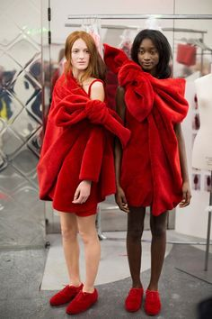 Backstage at Viktor & Rolf Haute Couture AW14