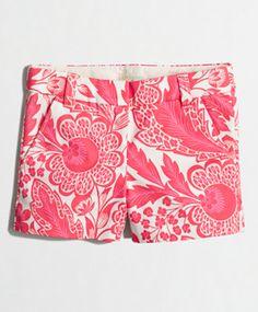 cute printed chino shorts