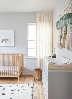 nursery ideas | gender neutral baby room | natural wood & gray baby nursery
