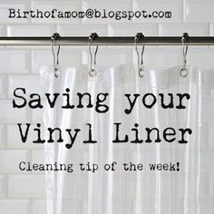 save your vinyl shower curtain liner! i am doing this today! save your vinyl shower curtain liner! Clean Shower Curtains, Wash Shower Curtain, Vinyl Shower Curtains, Bathroom Curtains, Nursery Curtains, Plastic Curtains, Drop Cloth Curtains, Diy Curtains, Homemade Curtains