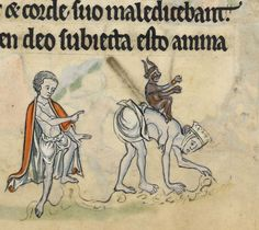 British Library, Add MS 62925, detail of f. 62r. Psalter, Use of Sarum ('The Rutland Psalter'). c. 1260