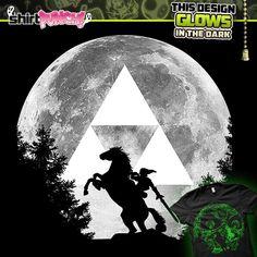 """Always Watching"" by Melkron is $10 today at ShirtPunch.com (10/08). #tshirt #TheLegendofZelda #TLOZ #Link #Triforce #GlowintheDark #VideoGames #Gaming"