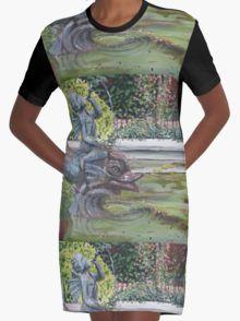 Fontein - Cherubijn Graphic T-Shirt Dress