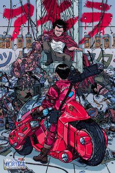 Akira: Testuo and Kaneda by Avery Kua *