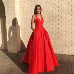 Long Prom Dresses Red, Modest A-line V-neck Satin Formal Evening Dresses with PocketsThanks for this post.Long A-line V-neck Satin Red Prom Dresses with Pockets. Petite Prom Dress, Prom Dresses Long Modest, Cheap Prom Dresses Online, Discount Prom Dresses, Amazon Dresses, Prom Dresses With Pockets, Cheap Evening Dresses, Dress Prom, Red Prom Dresses Uk