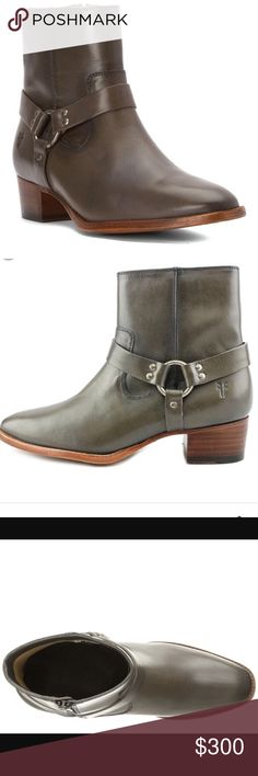 FRYE NWOT GRAY LEATHER ANKLE BOOTS These boots are brand new without tags. Gorgeous find. Small heel for the perfect look. Frye Shoes Ankle Boots & Booties