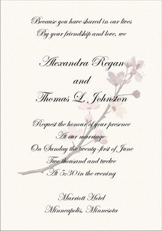 Older Couple Wedding Invitation Wording  Wedding Invitation