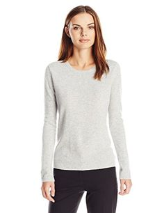 Lark  Ro Women's 100% Cashmere Slim-Fit Crewneck Sweater, Light Grey, X-Large  Special Offer: $18.15  311 Reviews This 100% Cashmere lightweight sweater is the perfect cozy layering piece.Solid pullover sweater in slim-fit silhouette featuring ribbed crew neckline, cuffs,...