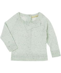 Green Cisca Bow Front Jumper