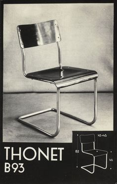Thonet advertising cards of tubular steel furniture, 1930. Via Wolfsonian