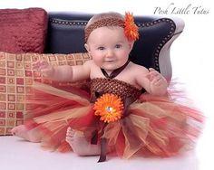 Autumn Princess Sunflower Baby Tutu Dress