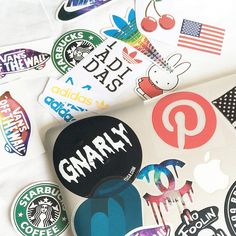 @stylewithjj: Laptop sticker stash bought from New York, Singapore and a special one from Pinterest. ✌