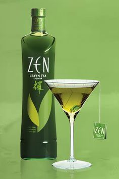 ZEN Green Tea Liqueur   ZEN has a hint of liquorice; the green tea earthiness is subdued but definitely present. The texture also has a subtle, almost undetectably light matcha-like graininess, which gives it a slight chewiness (if that makes any sense).