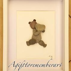 SOLD! This teddy bear and the heart has found its new home, for the arrival of a new baby. #agifttorememberart #pebbleart #stones #nature #art #instaart #instaphoto #handmade #australia #adelaide #makersgonnamake #madebyme #artist #unique #gift #roomdecor #beachdecor #ocean #frame #lovewhatyoudo #teddy #newbaby #etsy #etsyshop #sold